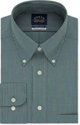 Eagle Men Classic/Regular-Fit Non-Iron Flex Collar Check Dress Shirt