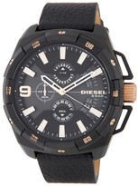 Diesel Men&s Heavyweight Chronograph Leather Strap Watch