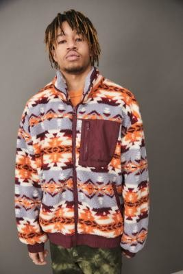 Iets Frans... iets frans. Geometric Print Fleece - Assorted S at Urban Outfitters