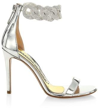 Alexandre Vauthier Elsa Crystal-Embellished Leather Sandals
