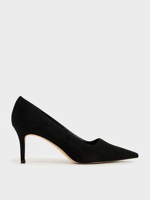 Charles & Keith Textured Pointed Toe Pumps