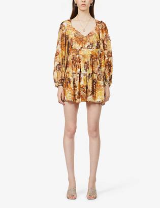 LoveShackFancy Willis floral-print woven midi dress