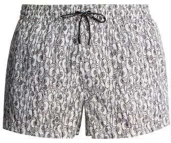 Dolce & Gabbana Floral And Heart Print Swim Shorts - Mens - White