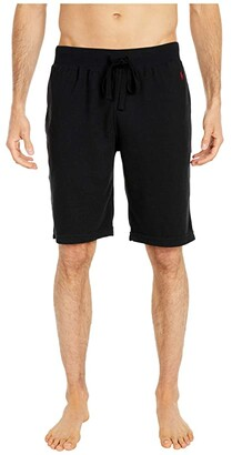 Polo Ralph Lauren Midweight Waffle Sleep Shorts (Polo Black/RL2000 Red Pony Player) Men's Pajama