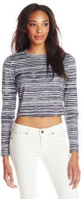 Finders Keepers findersKEEPERS Women's Take A Chance Busy Stripe Top