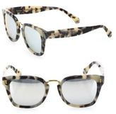 Illesteva Positano 49MM Mirrored Square Sunglasses