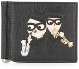Dolce & Gabbana musical designer's patch cardholder - men - Calf Leather - One Size