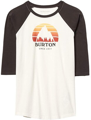 Burton Underhill Raglan Sleeve T-Shirt (Little Kids/Big Kids) (Stout White/Phantom) Kid's Clothing