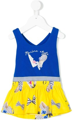 Lapin House Bow Print Dress