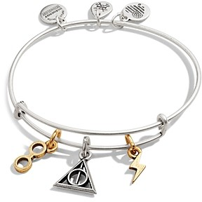 Alex and Ani Two-Tone Harry Potter Deathly Hallows Adjustable Charm Bracelet