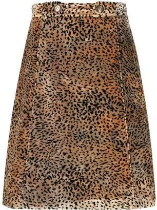 Etro Animal-Print Skirt