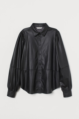 H&M Faux Leather Shirt