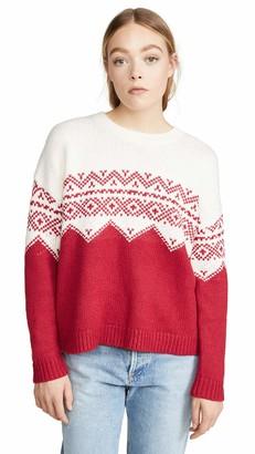 Velvet by Graham & Spencer Women's Leanna Colorblock fair isle Sweater