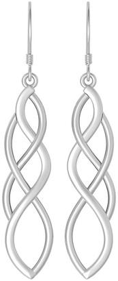 Celtic Solid .925 Sterling Silver Knot Design Dangle Earrings For Women