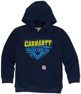 Carhartt Navy Blazer 'Outrun Them All' Fleece Pullover Hoodie - Boys