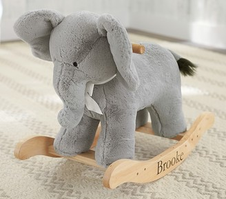 Pottery Barn Kids Elephant Plush Nursery Rocker