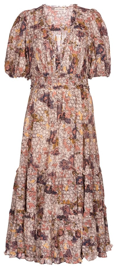 Ulla Johnson Virginie floral midi dress