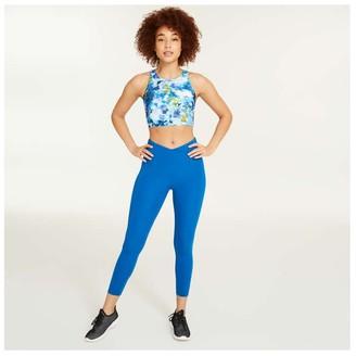 Joe Fresh Women's Wrap Yoga Legging, Blue (Size L)