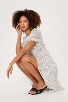 Thumbnail for your product : Nasty Gal Womens Polka Dot Tie Back Mini Smock Dress - White - 10