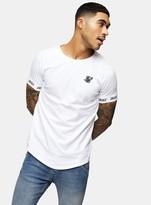 SikSilk White Raglan Tech T-Shirt