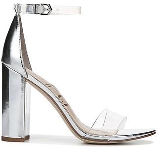 Sam Edelman Yaro Transparent Metallic Ankle-Strap Sandals