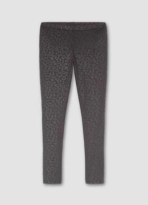 Mint Velvet Black Animal Textured Leggings