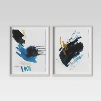 "Minted Project 62 (Set of 2) 16"" x 20"" Blue Abstract Framed Print - Project 62TM"