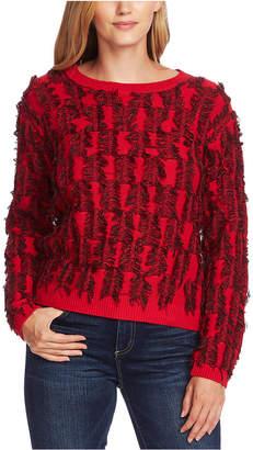 Vince Camuto Cotton Eyelash Sweater