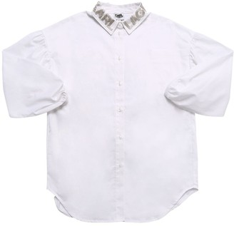 Karl Lagerfeld Paris Oversize Cotton Poplin Shirt