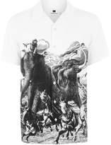 Topman Horse Print Short Sleeve Shirt
