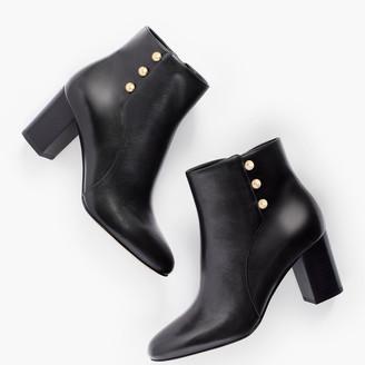Talbots Lilia Side-Button Booties - Vachetta Leather