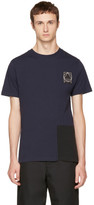 McQ Indigo & Black Colorblock Glyph Logo T-Shirt