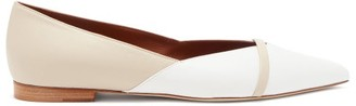 Malone Souliers Colette Point-toe Leather Flats - White