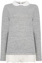 Tu clothing Grey Lace Hem Top