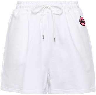 Markus Lupfer Nicole Appliqued French Cotton-terry Shorts