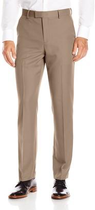 Oxford NY Men's Modern Fit Flat Front Fixed Waist Gabardine Dress Pant