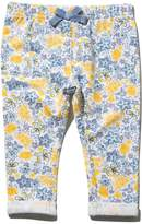M&Co Floral bow applique jegging