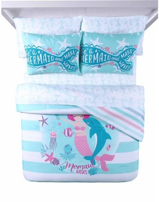 Heritage Club Mermaid and Make Waves Bed in a Bag Set, Queen