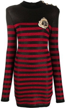 Balmain Logo Patch Knitted Dress