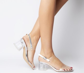 Office Merciful Clear Sandals Silver