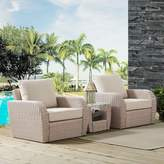 Crosley Furniture St. Augustine Patio Wicker Chair & End Table 3-piece Set