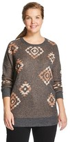Mossimo Women's Plus Size Pullover Sweater Black Juniors')