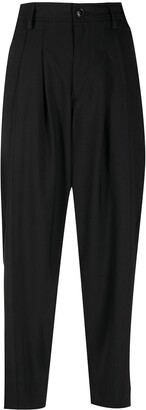 Closed Dropped-Crotch Cropped Trousers