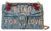 Gucci Dionysus Blind For Love Genuine Snakeskin Shoulder Bag - Blue
