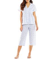 Miss Elaine Petite Daisy Lawn Capri Pajamas