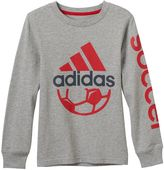adidas Boys 4-7x Sporty Logo Graphic Tee