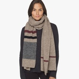 James Perse Wool Blend Striped Scarf