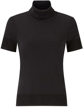 Jigsaw Short Sleeve Jersey Polo Top