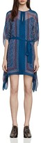 BCBGMAXAZRIA Inesa Draped Scarf-Print Dress