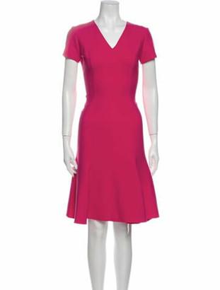 Oscar de la Renta 2018 Knee-Length Dress Pink